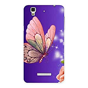 Ajay Enterprises Butterfly and rose Back Case Cover for Yu Yureka
