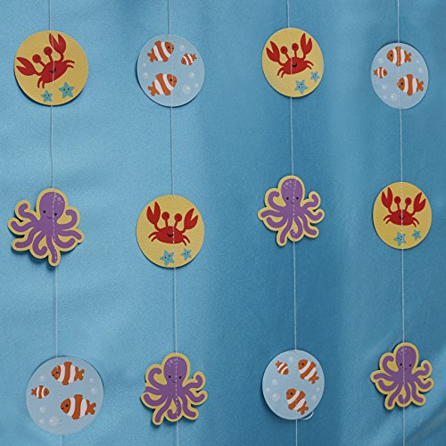Ginger Ray Sea Themed Birthday Party Back Drop Banner Bunting - Under The Sea - 1