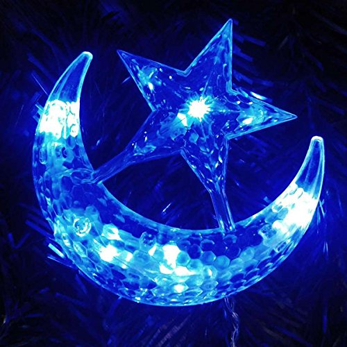 Zeagoo 4M LED Moon Star Christmas Party Bar Indoor Fairy Curtain Light