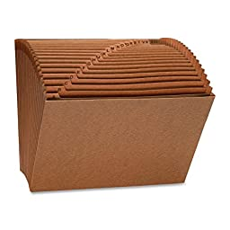 Sparco Heavy-Duty Accordion Files without Flap - Letter - 8.5\
