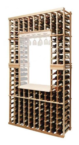 Vintner Individual Bottle Wine Rack (Premium Redwood - Dark Walnut Stain) front-620564