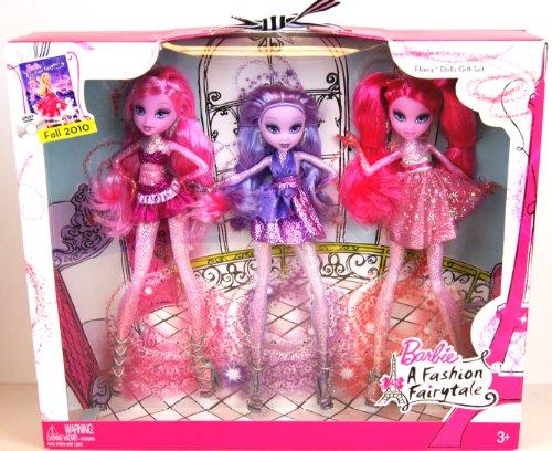 Discount Barbie A Fashion Fairytale Flairy Dolls 3 Pack Gift Set Agstyauau