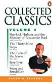Image of Collected Classics, Vol. 4: Jayne Eyre- Sense and Sensibility, Sherlock Holms and the Mystery of Boscombe Pool, The Thirty Nine Steps, The Turn of the Screw (Penguin Readers, Level 3)