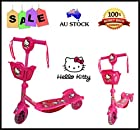 LIGHT & MUSIC HELLO KITTY TODDLER KID CHILD SCOOTER 3 WHEEL OUTDOOR RIDE ON TOY