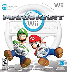 Mario Kart Wii with Wii Wheel by Nintendo