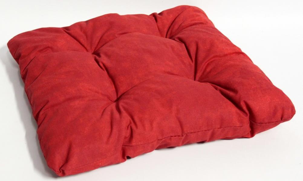 Sitzkissen für Gartenmöbel Indoor Dekokissen Polster ca. 38x38cm rot leicht marmoriert jetzt bestellen