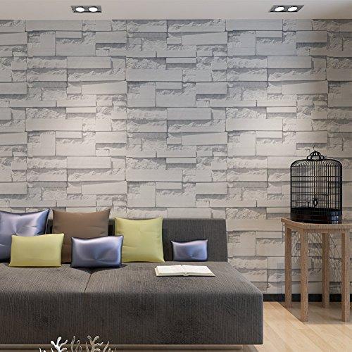 Carta da parati mattone l 39 effetto legno pietra a casa e for Carta da parati muro di mattoni
