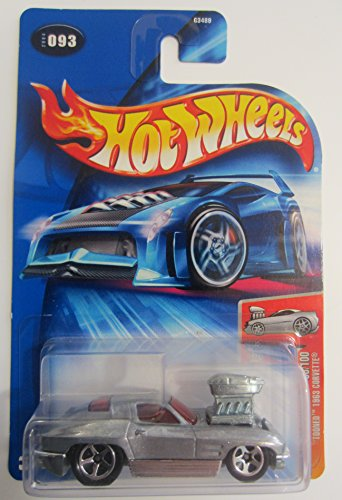 Mattel Hot Wheels 2004 First Editions 1:64 Scale 'Tooned 1963 Corvette Die Cast Car #093 - 1