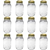 Kerr 0505 regular mason jar quart, 32oz