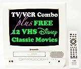 Panasonic 13 TV/VCR Combo + 12 FREE Disney VHS Movies