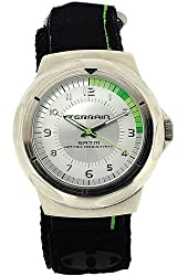 Terrain Black & Green Velcro Strap Surf Gents Sports Analogue Watch TV-1314G