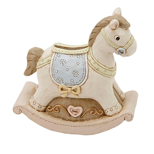 Rocking Horse Neutral Resin Baby Money Box By Haysom Interiors
