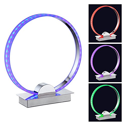 Aurelio LED Color Changing Circle Ring Lamp