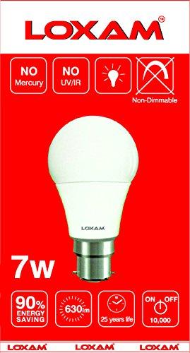 Loxam-7W-B22-LED-Bulbs-(Cool-White,-Pack-of-4)