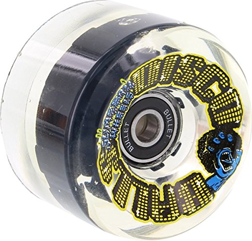 Santa Cruz Slimeballs Disco Balls 66Mm 78A W/Led & Bearing Skateboard Wheels (Set Of 4)