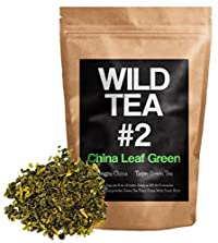 Organic Green Tea, Wild Tea #2, Gunpowder Green Loose Leaf Tea, China Leaf Green Tea with Mint (8 Ounce)