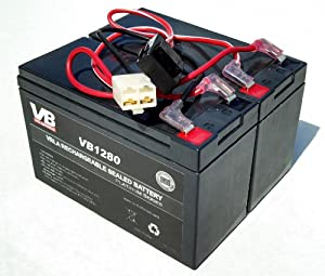 Razor 12 Volt 7Ah Electric Scooter Replacement Batteries VICI Brand High Performance - Set of 2 Includes Wiring Harness (replaces 6-DW-7)