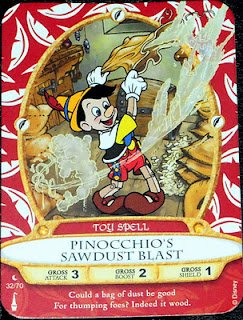 Sorcerers Mask of the Magic Kingdom Game, Walt Disney World - Card #32 Pinocchio's Sawdust Blast