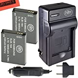 Pack of 2 SLB-10A Batteries and Battery Charger for Samsung EX2F HZ15W SL202 SL420 SL620 SL820 ST76 WB150F WB250F WB350F WB750 WB800F WB850F WB1100F Digital Camera + More!!