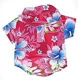 Casual Hawaiian Beach Pink Floral Shirt Dog Clothes For Cat Dog Puppy Pet (8)