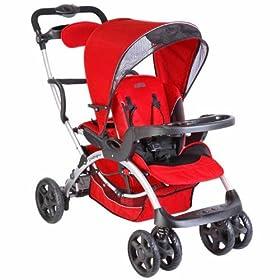 Mia Moda Compagno Stroller in Rosso