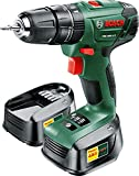 Bosch PSB 1800 LI-2 Cordless Lithium-Ion Hammer Drill Driver with 2 x 18 V Batteries, 1.5 Ah
