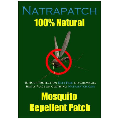 Natrapach mosquito repellent patch 6 patches 100% Natural Deet Fee Citronella based