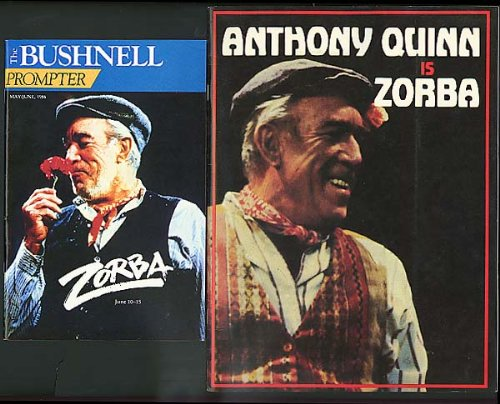 Anthony Quinn Is Zorba Program & Playbill 1986 W/ Stub
