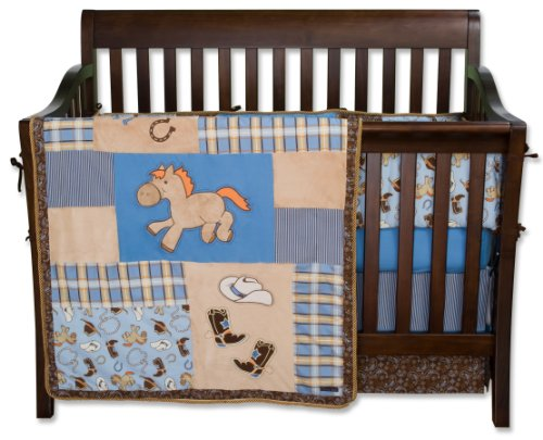 Trend Lab 4 Piece Crib Bedding Set, Cowboy Baby