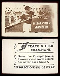 Buy 1948 Topps magic track and field champions (Miscellaneous) Card# 17 m. jarvinen (javelin) ExMt Condition by Topps