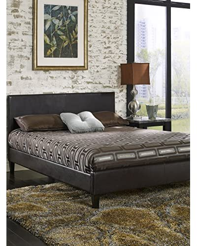 MaxRest Quincy Leather Platform Bed