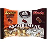 Hershey's Reese's Miniatures/Hershey's Kisses/Rolo Caramels Assortment, 482 grams