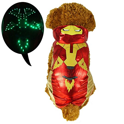 LED Light Up Iron Man Pet Costume