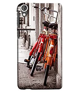 Blue Throat Two Cycle Standing Printed Designer Back Cover For HTC Desire 820