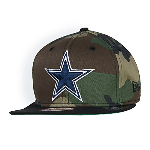 100% Authentic NWT, New Era Dallas Cowboys ' Logo Grand' Official Woodland Camo Snap Back 9Fifty hat Cap, OSFM