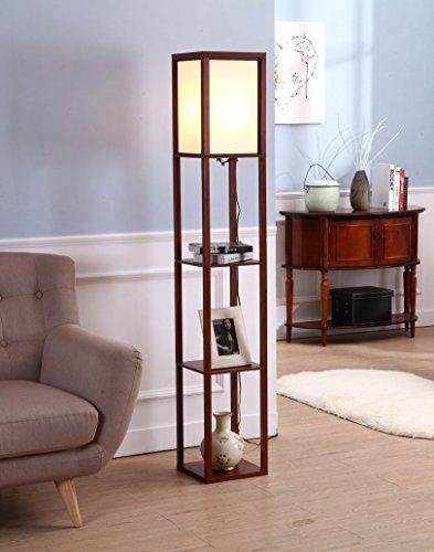 Display Shelve Floor Lamp Shelf Display Stand Home Office Decor Room Storage New