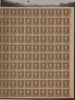 Nathan Hale Sheet of 100 x 0.5 Cent US Postage Stamps NEW Scot 653
