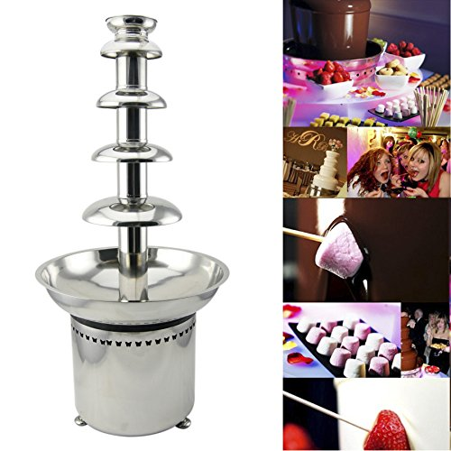 Tek Motion 27' 5-Tier Stainless Steel Chocolate Fondue Fountain LARGE for Big Wedding Party Hotel (Fondue Tier compare prices)