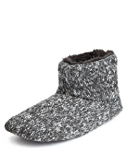 Ankle High Knitted Boot Slippers