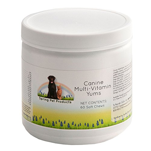 Canine Multi-Vitamin Yums ~ Formulated With A Comprehensive Blend Of Complete Vitamins, Minerals And Anti-Oxidants In A Great Tasting Soft Chew That Dogs Love ~ Patented Sealed Matrix Protects The Ingredients Until Digested ~ Natural Bacon Flavoring ~ For