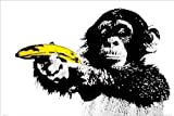 Monkey Banana Shoot Art Print Poster
