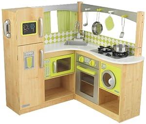New limited edition kidkraft wooden lime green corner kitchen toys games - Space saving movable kitchen island get efficient kitchen traffic ...