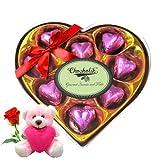 Chocholik Luxury Chocolates - Luxury Wrapped Chocolate Box With Teddy And Rose