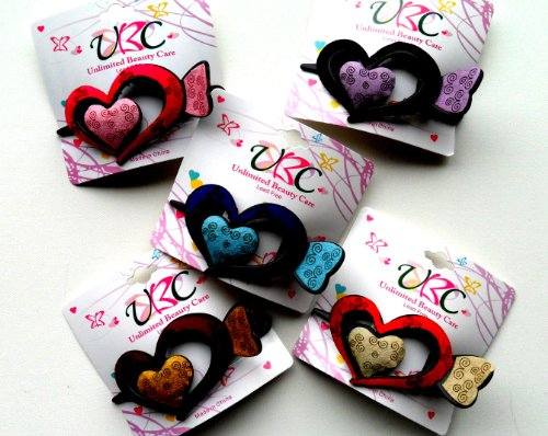Heart Hair Clip Set of 4 Assorted Colors