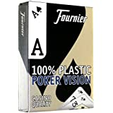 Fournier Vision Poker Size Peek Index Playing Cards (Blue)