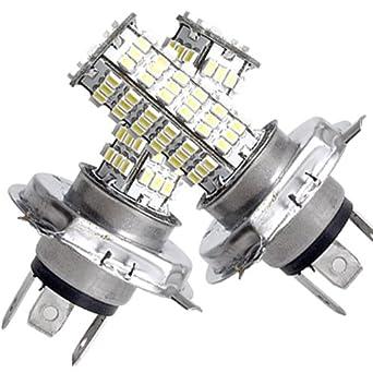 2 h4 lampe ampoule bulb a 120 smd led blanc pr voiture - Ampoule h4 led ...