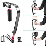 Neewer Steady Video Action Stabilizer System for GoPro HERO 4, 3+, 3, 2, 1, Small SLRs, Cameras & Camcorders, iPhone 6, 6 plus, 5S, 5, 4s, Samsung Galaxy S5 S4 and other Smartphones, includes: (1) Bow Arch Handheld Stabilizer + (1) Mount Adapter for GoPro+ (1) Universal Adjustable Black Phone Holder