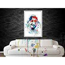 Monika Creations Original Mahatma Gandhi (BE THE CHANGE YOU WANT TO SEE IN THE WORLD)Art Water Color Digital Poster...