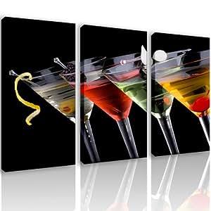 S56 glasses 3 quadri moderni 120x80 cm stampa for Quadri arredo salotto