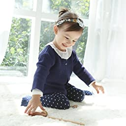 Susu & Cra - Marang Cardigan, Baby Luxury Cardigan, Toddler Sweater Cardigan (5y, Prussian Blue)